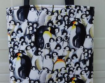 Reversible Tote Bag:Penguin
