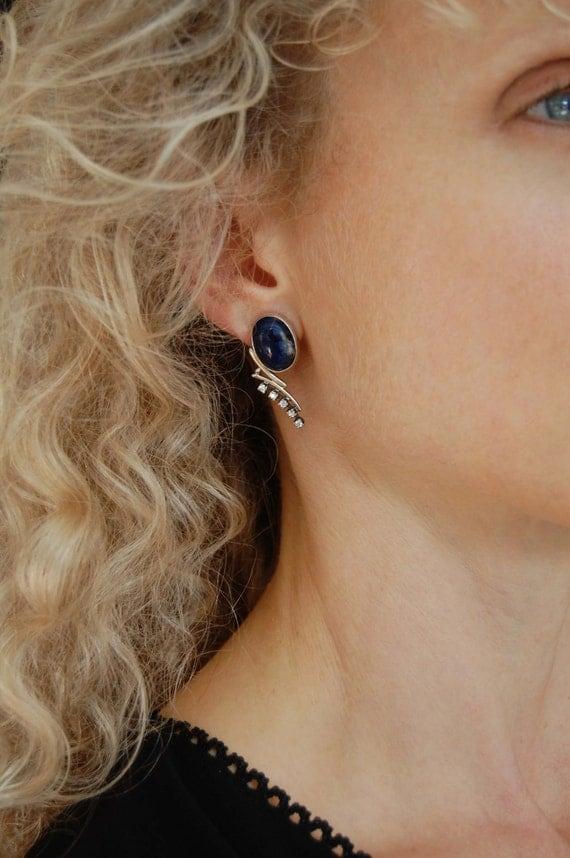Statement Earrings Metalwork Earrings Art Jewelry Natural Stone Earrings Luxury Jewelry Metalwork Jewelry