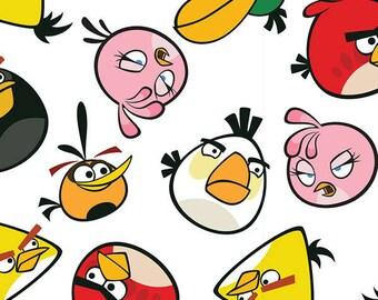 Fat Quarter, Birds, Angry Birds Roxio, Angry Birds Toss, Angry Birds, 02217
