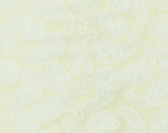 Paisley, Cream Paisley, Parfait by Blank Quilting, Cream Floral Fabric, Cream Fabric, Tone on Tone, 02252