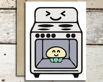 Bun in the Oven instant download/printable greeting card for baby shower, pregnancy, expecting mothers