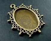 10pcs 18x25mm setting size vintage style star light oval bezel tray DIY earring chandelier pendant charm supplies 1421061
