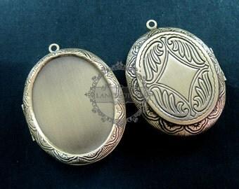 5pcs 30x40MM setting size vintage brass bronze oval locket pendant,photolocket,photo locket1121031