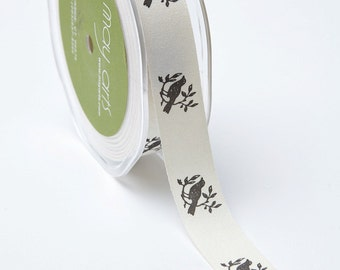 Ivory Ribbon. Birds. Wedding Favors  Bow Supplies DIY Wedding Gift Wrap Favor Box Ribbon Craft Sewing DIY Wedding Bouquet 5 Yards