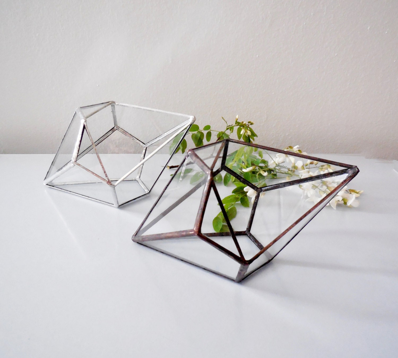 terrarium glass terrarium geometric shape plant holder. Black Bedroom Furniture Sets. Home Design Ideas