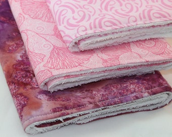 Pink Burp Cloth Set - Set of Three