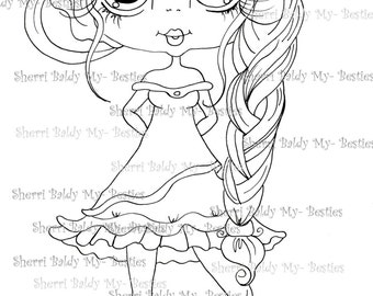INSTANT DOWNLOAD Digital Digi Stamps Big Eye Big Head Dolls Digi  My - Besties  IMG308 By Sherri Baldy
