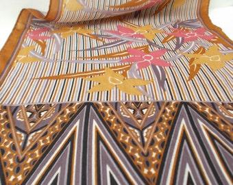 vintage Honey oblong silk scarf - 70s