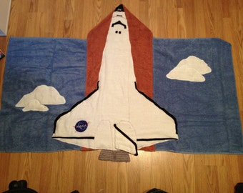 space shuttle hooded towel