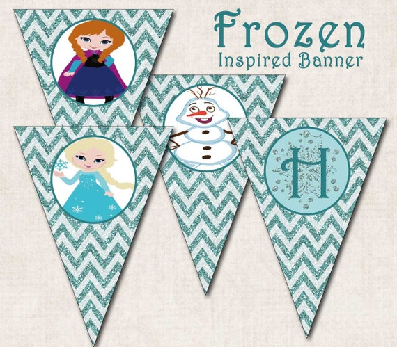 Items Similar To Frozen Inspired Birthday Party Banner