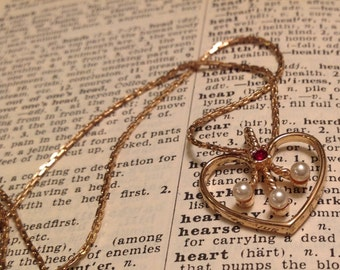 Vintage Goldtone Heart necklace from Avon