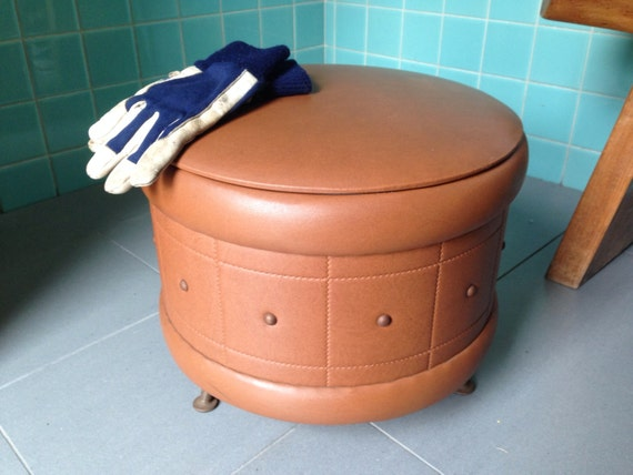 Reserved For Dannon Storage Ottoman Poof Stool By