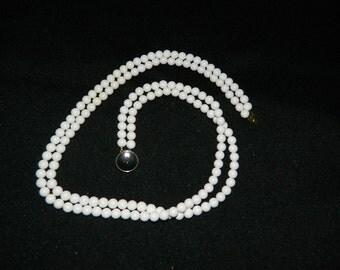 Vintage Milk White Bead  Necklace