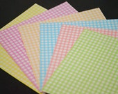 Pastel Checks Design Pretty Rainbow Paper Pack for Origami Paper Crane Folding - 140 sheets (8.6cm X 8.6cm)