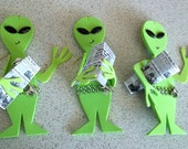 SALE PRICE - Funny Roswell Crash Newspaper Alien Ornament