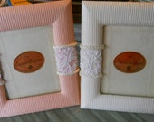 "Holiday Sale Now Set of 2 embellished picture frames holds 3"" X 5"" picture"