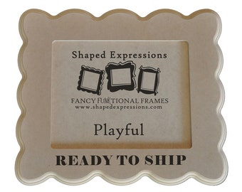 READY TO SHIP - 5x7 Playful unfinished picture frame