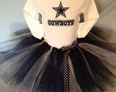 FREE SHIPPING NFL Dallas Cowboys Tutu Cheer Dress for Baby Girls