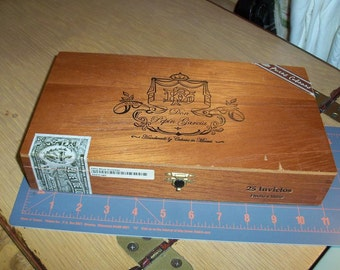Don Pepin' Garcia Special Cigar Box Upcycled Wooden Chest