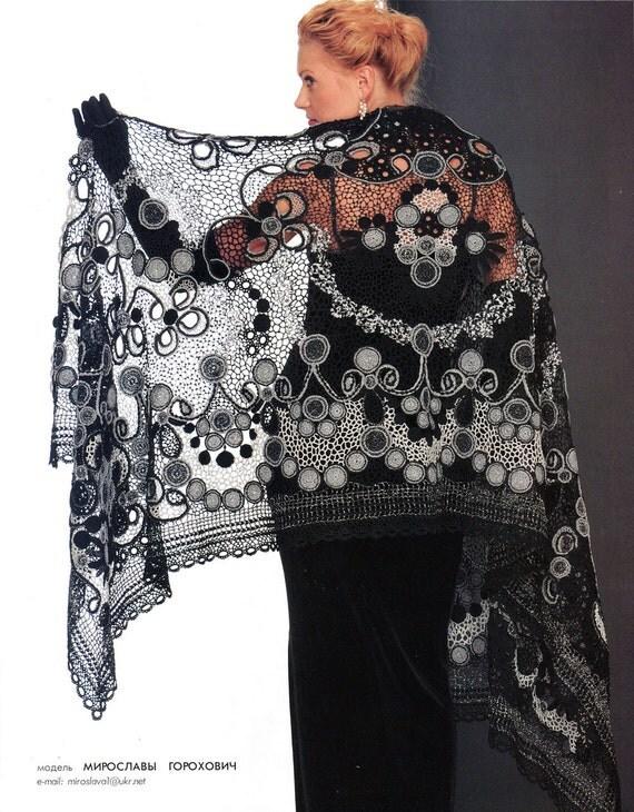 Irish Crochet Lace Shawl Pattern : Crochet patterns shawl jackets Irish lace by ...