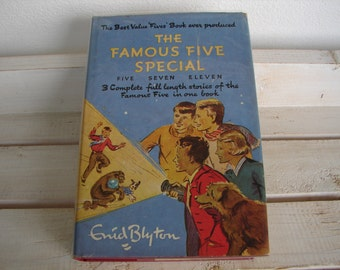 1959 1st. ed. The Famous Five Special, Enid Blyton, un-clipped 12s 6d dustwrapper, Hodder Stoughton