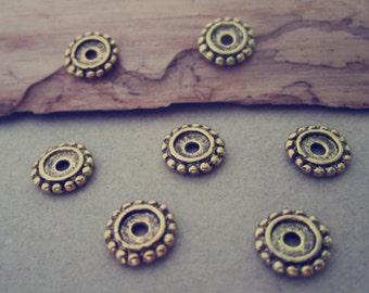 50pcs Antique gold color Flower Charms pendant  18mm