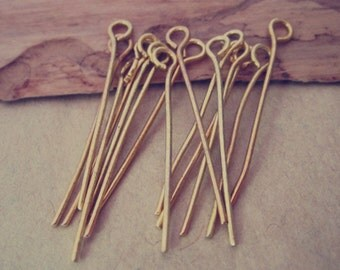 200 pcs gold color eye pins 28mm
