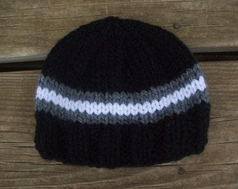 Gray,Black,Sports,Baby,Boy,Hand Knit,Hat,Photos,Gift,Newborn,Three Months,Infant