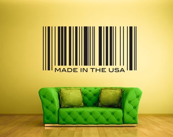 Wall Decal - Personalized Barcode  -