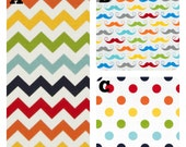 Chevron Mustache Rainbow Diaper Stacker, fabrics are your choice, Lolas Lovies handmade baby bedding