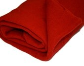 Red Coloured Prefelt, 18 x 18 inches, Merino Wool Prefelt, Fat Quarter of Prefelt