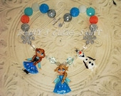 1# FROZEN inspired Elsa, Anna and Olaf theme Custom Chunky Bead Necklace
