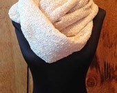 Extra Long Warm Knit Inifinty Scarf - Cream Ivory