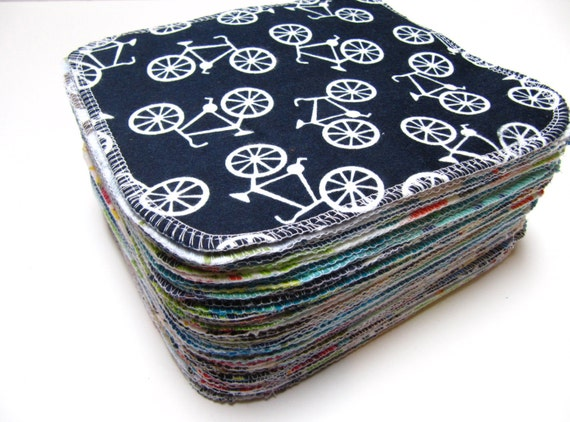 Cloth Wipes, Cloth Diaper Wipes, 50 Boys Mixed Prints, Eco-Friendly Reusable Cloth Wipes