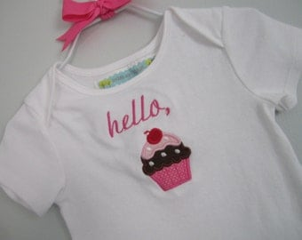 embroidered cupcake bodysuit