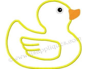 Instant Download - Bird Embroidery Applique Design - Rubber Ducky Applique Design 4x4, 5x7, 6x10 hoops