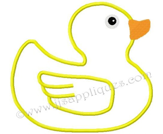 Instant Download - Bird Embroidery Applique Design - Rubber Ducky Applique Design 4x4, 5x7, 6x10 hoops