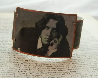 Oscar Wilde bracelet Oscar Wilde jewelry mixed media jewelry literature jewelry