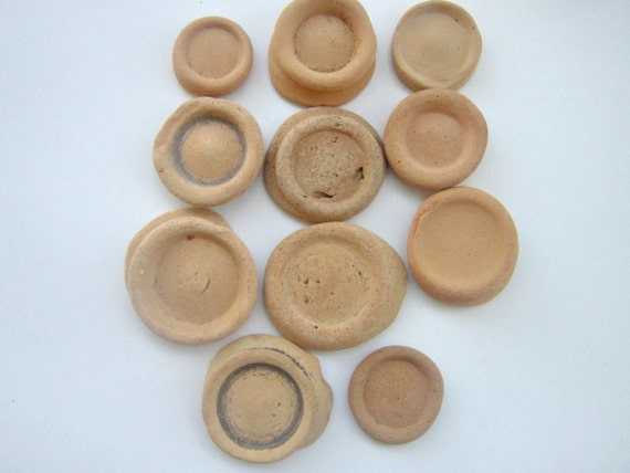 Vintage Clay Cup Bases