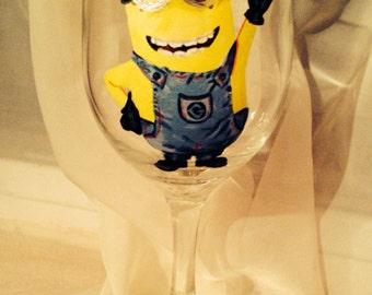 Minion wine glass