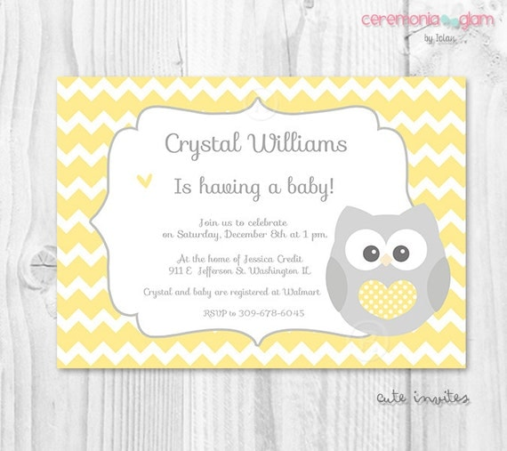 Owl Baby Girl Shower Invitations as best invitations template