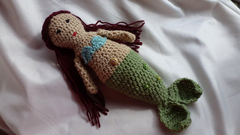 Crochet Pattern Mermaid Doll : Crochet Mermaid doll by AngieMade on Etsy
