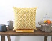 dijon yellow and white diamond cushion cover 45x45cm
