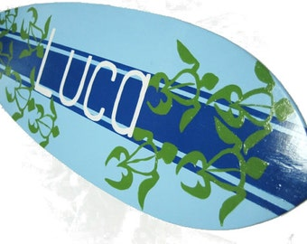 Personalized Surfboard Decor, Surfboard Sign, Custom Surf Board Wall Art