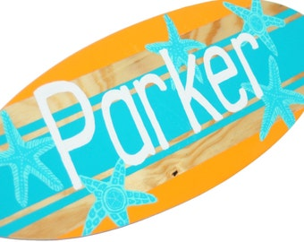Personalized Beach Signs, Decorative Surfboard Decor