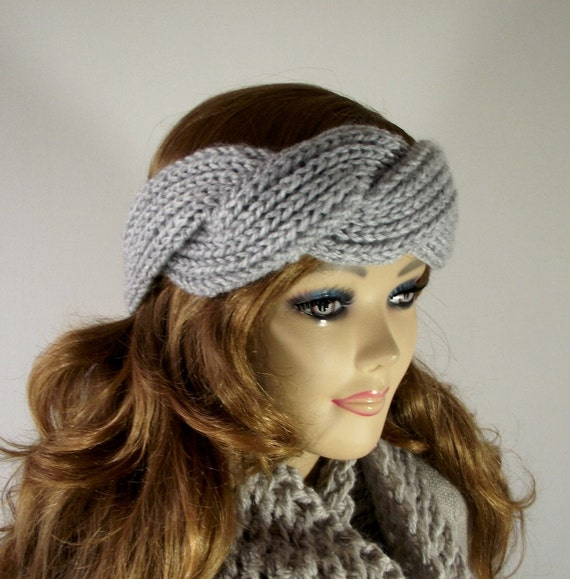 Twisted Headband Knit Pattern : KNITTING Headband PATTERN Twisted - Regina Headband - Ear Warmer Knit Hair Ac...