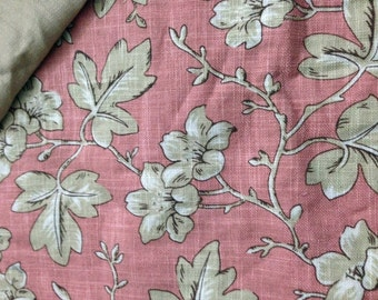 WCMT from printed pink linen body panel with biege cotton