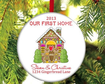 Our First Home Christmas Ornament - Our New Home Christmas Ornament - Gingerbread House Ornament