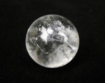 "7/8""-1"" Quartz Sphere Gemstone rock crystal ball specimen marble"