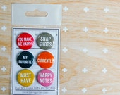 Badges / Adhesive buttons Basic Words 4